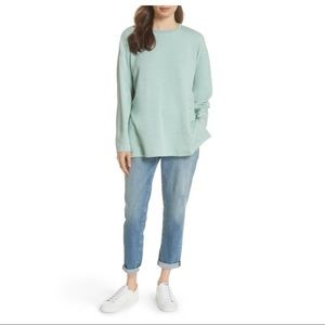 Eileen Fisher Boxy Elm Sweater Tunic in mint, M